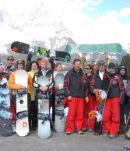 Snowboarding tuition on K2 winter holidays