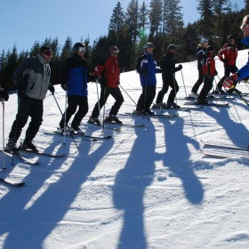 Adult ski instructing